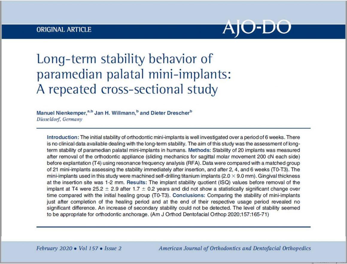 "Veröffentlichung im ""American Journal of Orthodontics"""